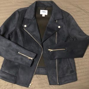 Navy blue old navy faux suede jacket